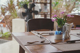 Dining table in the restaurant. - 187580914