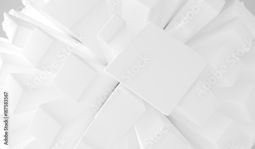 3D Rendering Of Abstract Cubes Closeup Background
