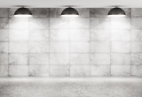 Concrete wall and floor interior background 3d rendering