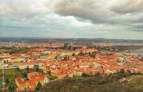 Poster Praag Prague landscape, Czech republic