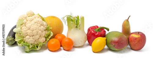 Fotobehang Verse groenten Obst und Gemüse