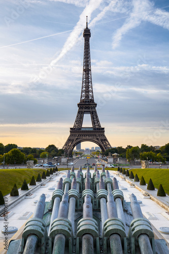 Foto op Aluminium Eiffeltoren Paris, Trocadéro, Tour Eiffel