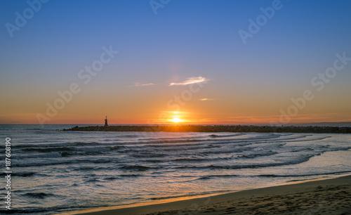Keuken foto achterwand Zee zonsondergang Marbella
