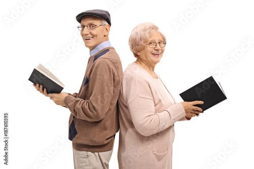 Seniors with books
