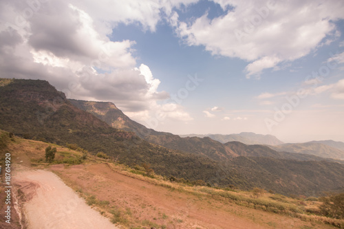 mountain and sky landscape view in National Park, Thailand - 187614920