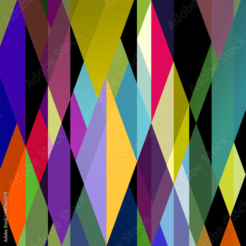 Aluminium Abstract met Penseelstreken abstract colorful background, retro style