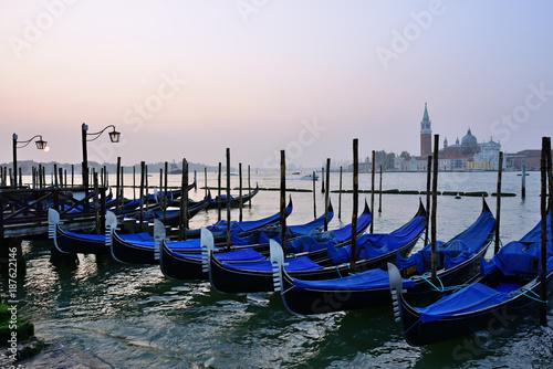 Poster Venetie Gondolas in Venice, Italy