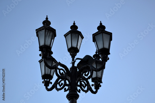 Fotobehang Kiev Vintage street lantern.