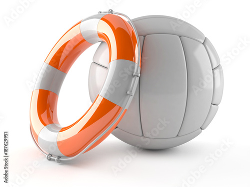 Fototapeta Volleyball with life buoy