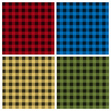 Vector set of umberjack plaid seamless patterns