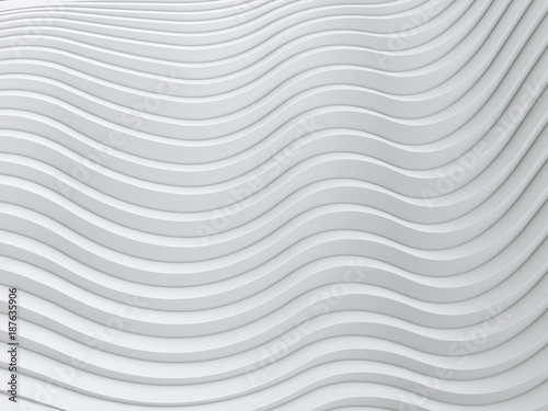 Staande foto Abstract wave Wave band abstract background surface 3d rendering