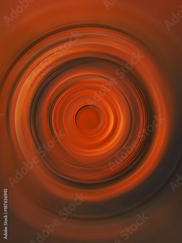 Fotobehang Abstractie Spiral vortex in shades of orange.