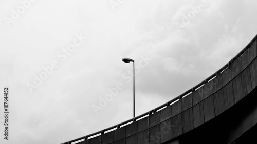 street lamp post - monochrome
