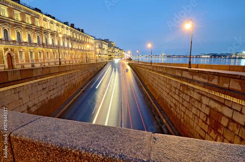 Foto op Canvas Nacht snelweg City highway for road transport.