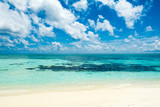 Beautiful landscape of clear turquoise Indian ocean, Maldives islands - 187649386
