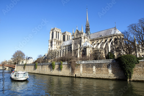 Landscape of Paris with Notre Dame Poster