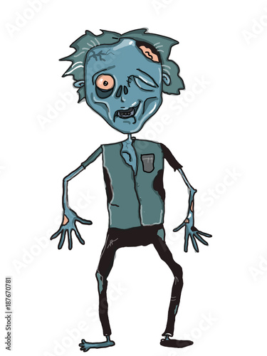 zombie  male female illustration cartoon drawing and white background - 187670781