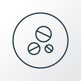 Antibiotic icon line symbol. Premium quality isolated drug  element in trendy style. - 187678582