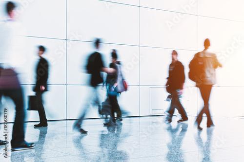 futuristic business people expo concept