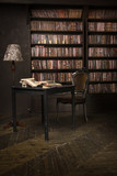 Classical library room - 187681572