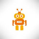 Robot Cartoon Wall Sticker