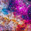 Abstract vector texture. Nebula background composed of color circular dots.