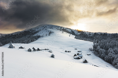 Beautiful snow winter in mountains  © reme80