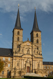 Church facade in the old town of Bamberg, UNESCO Heritage, Germany