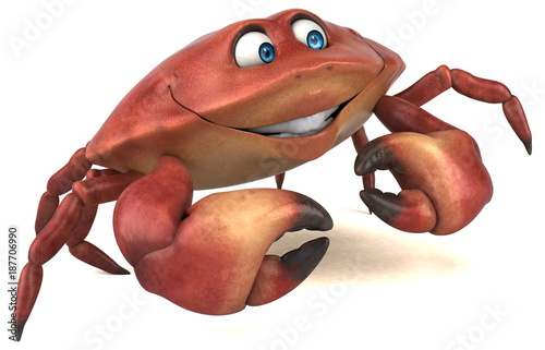 Fun crab - 3D Illustration - 187706990