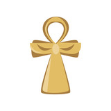 Ankh cross, religious sign of the ancient Egypt, symbol of life, cartoon vector Illustration - 187714120