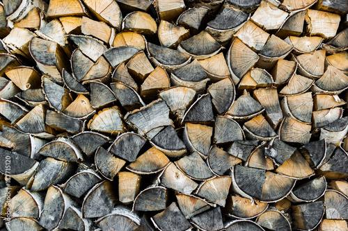 Foto op Aluminium Brandhout textuur a stack of wood texture