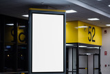 blank advertising billboard at airport. - 187717315