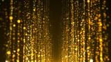Gold particles awards background - 187721302