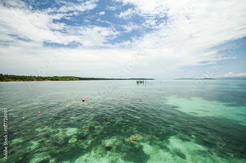 Fotobehang Wit Mak island Koh Mak Trat Thailand