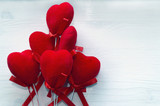 bunch of red velvet hearts - 187739751