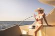 Classy lady on a yacht