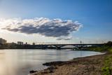 Vistula river in Warsaw, Poland