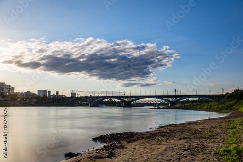 Foto Murales Vistula river in Warsaw, Poland