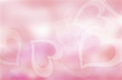 Pink and red hearts valentines day border and background