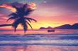 canvas print picture - Insel im Ozean