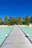 Bootssteg auf den Malediven - 187751126