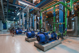 Pumps in a cogeneration station - 187751764