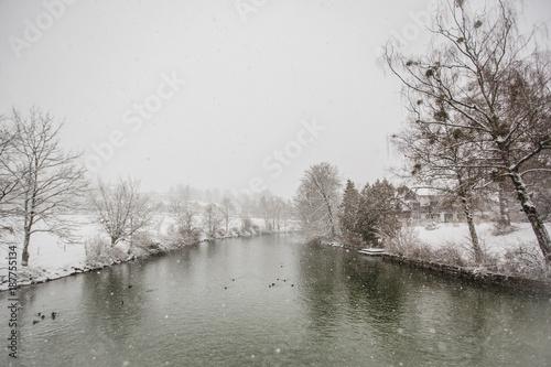 Staande foto Grijs snow winter tegernsee bayern alps