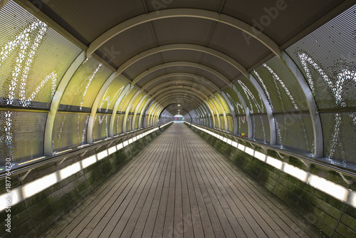 tunnel with lights