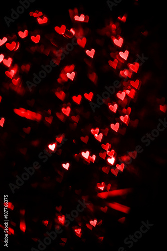 Blurred hearts. Valentines day background.  Love concept for mother's day and valentine's day. Valentine's Day blurred postcard