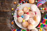 donut with carnival decoration - 187767906