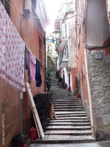 ruelles dans les Cinque Terre, Italie - 187772725
