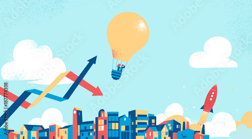 Staande foto Bol Idee e visione di business