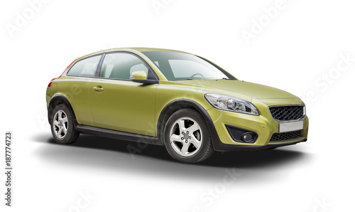 Sport premium hatcback car side view isolated on white - 187774723
