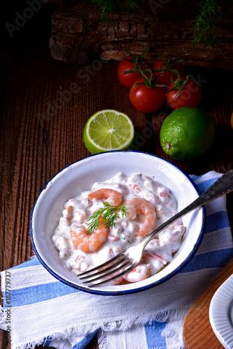 Foto op Plexiglas Noordzee rustic crab salad